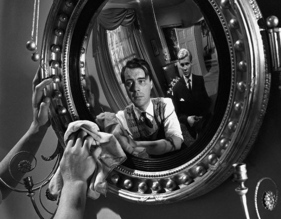 Dirk Bogarde and James Fox in Joseph Losey's THE SERVANT (1963). v