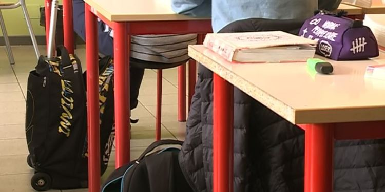 Studenti in presenza a scuola