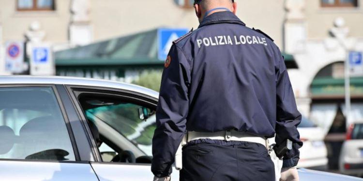 Vigili urbani in centro a Como