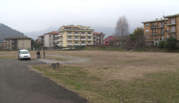 Area in piazza d'Armi a Muggiò (Como) dove verrà allestito un hub vaccinale