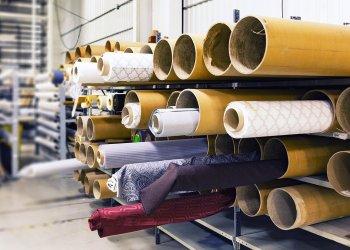 Tessuti di un'azienda tessile