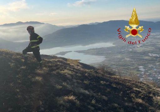 Incendio monte Cornizzolo