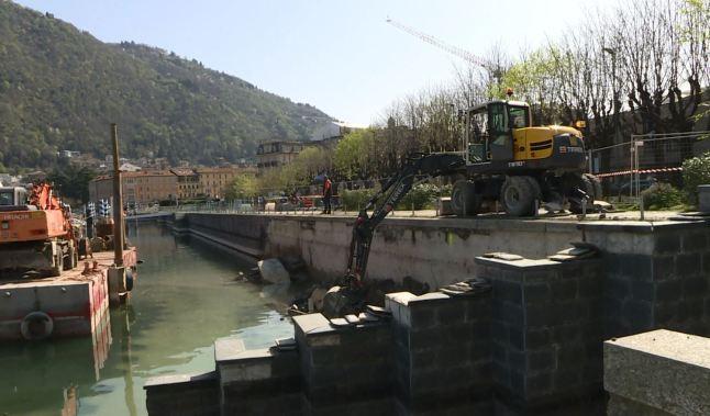 scalinata a lago demolita e macerie rimosse