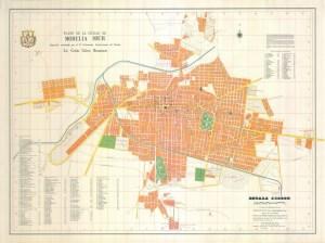 Plano de la Ciudad de Morelia, Mich. 1970. Por el Ing. Carlos García de León.