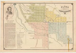 Plano de la Ciudad de Uruapan, 1898.