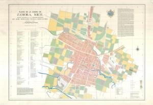 Plano de la ciudad de Zamora, 1973.