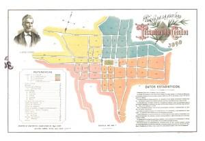 Plano de la ciudad de Tacámbaro de Codallos, 1898.