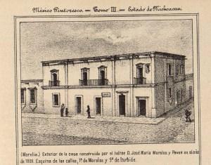 Casa de Morelos, fachada, México Pintoresco, Tomo III, entre 436-437