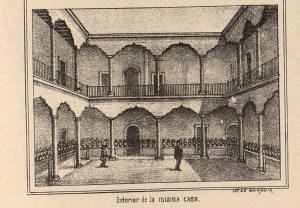 Casa de Morelos, interior, México Pintoresco, Tomo III, entre 436-437