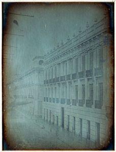 Daguerrotipo Casa del Marques del Apartado Convento y Colegio de la ensenanza, por Jean Prelier Dudoille, circa 1840