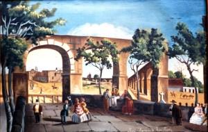 Calzada, Acueducto y Capilla de Ánimas, por Mariano de Jesús Torres.