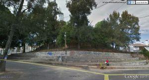 Segunda fotografía tomada de Google Earth, del llamado Calvario, montículo prehispánico en Santa María de Guido, Morelia
