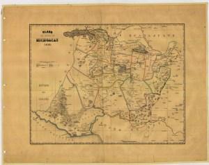 Plano del Estado de Michoacán, 1863. Fuente: Mapoteca Manuel Orozco y Berra.