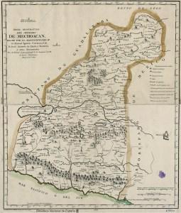 Mapa Geográfico del Obispado de Mechoacán, 1801