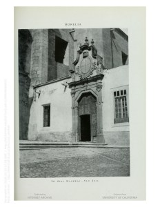 Entrada de la capilla actual de San José, en la esquina de las calles Emiliano Zapata y Belisario Domínguez