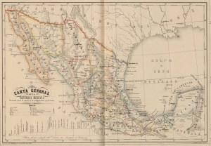Carta General de la República Mexicana, formada para el estudio de la configuración y división interior de su territorio.