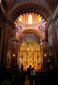 Vista del interior del Santuario de Guadalupe