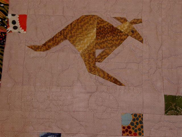 Australiateppe - kengurudetalj