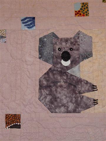 Australiateppe - koaladetalj