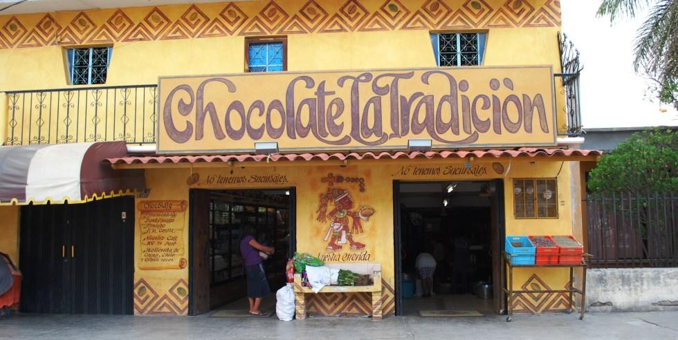Chocolate La Tradicion in Tlacolula Oaxaca
