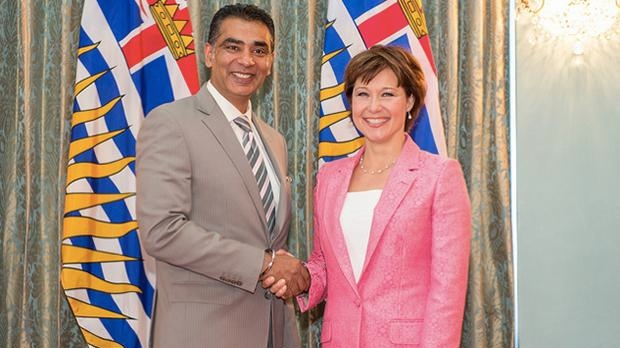 Amrik Virk and Christy Clark