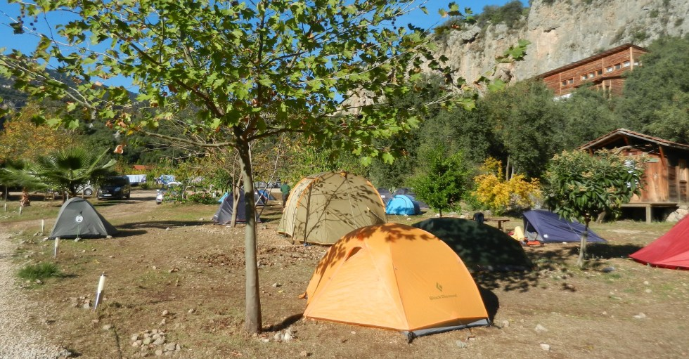 My lovely orange 'çadır' (tent) near Antalya, Turkey