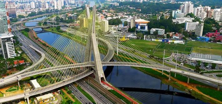 Vista parcial da cidade de São Paulo