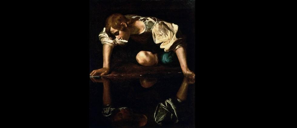 Narciso por Caravaggio (1594-96)