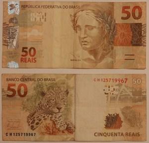 Nota brasileira de 50 Reais