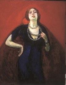 Portrait of Guus Preitinger wife of Kees van Dongen, Kees van Dongen 1910, van Gogh Museum, Amsterdam