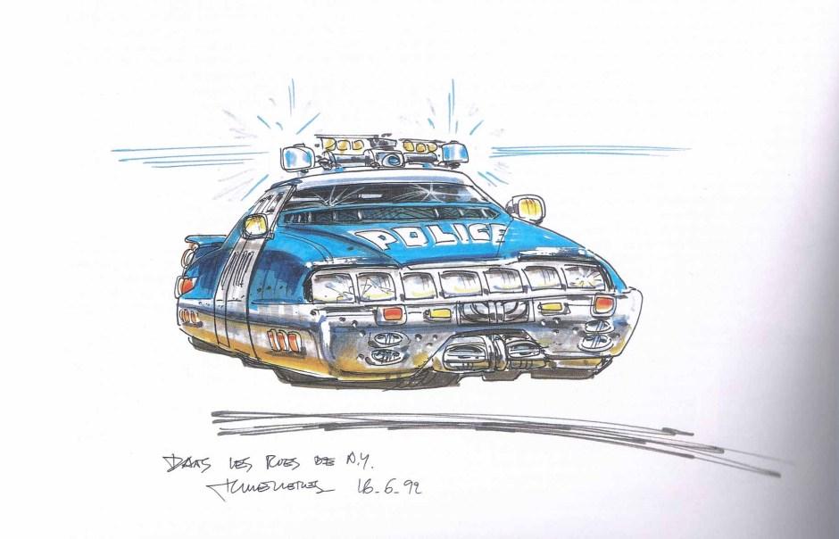 La voiture de police, Le Cinquième Elément