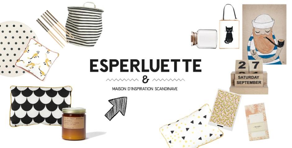 Eshop Esperluette, déco d'inspiration scandinave