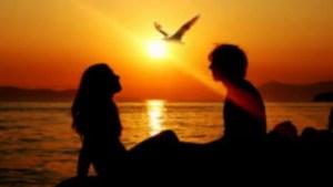 casal por do sol