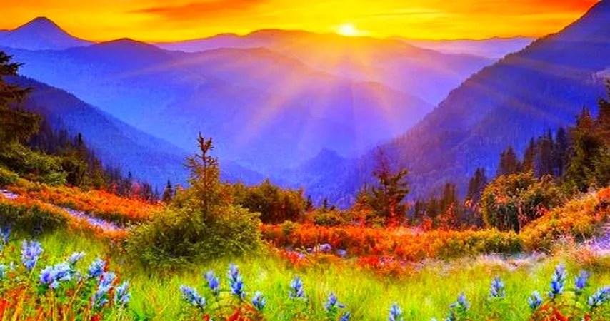 montanhas de luz