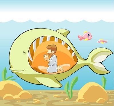 jonas en el vientre de la ballena