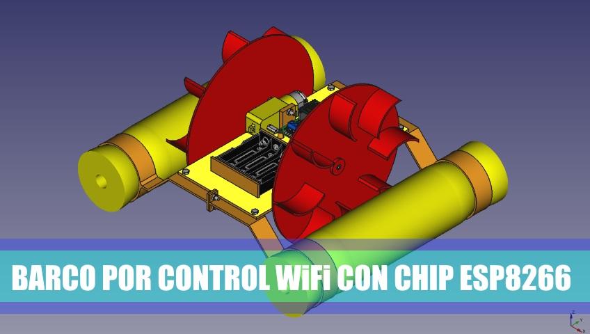 PRÁCTICA 17: Barco por control WiFi con chip ESP8266