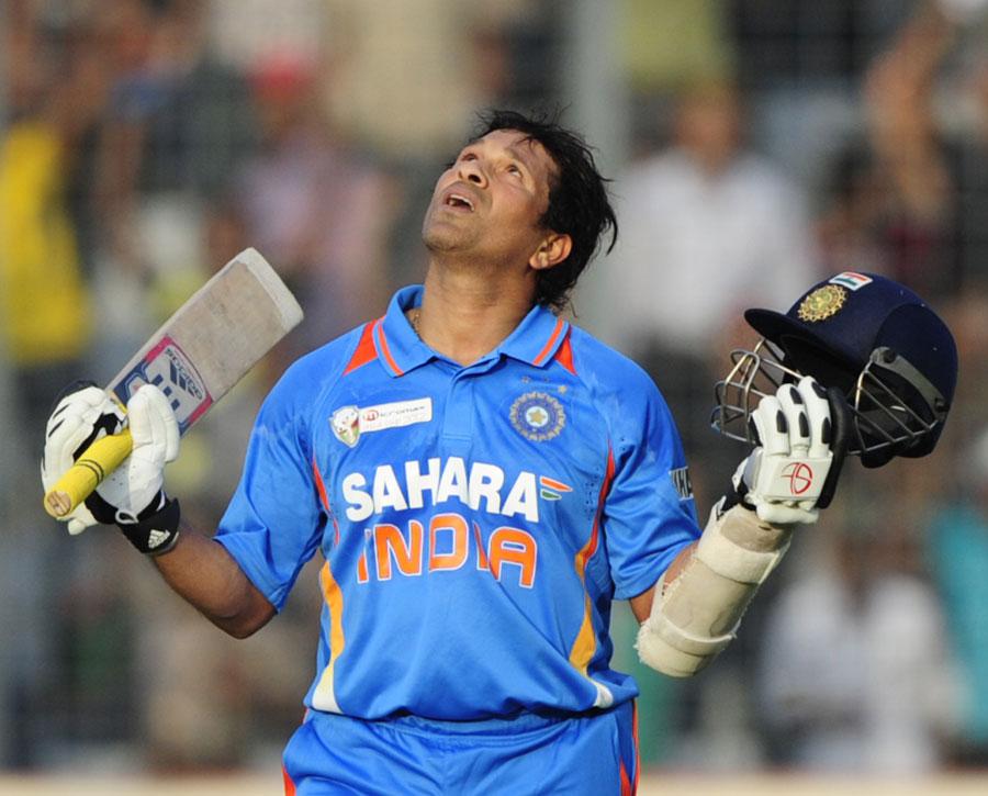 Sachin scores his 100th 100