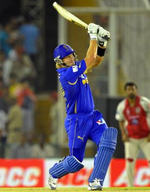 Shane Watson scored a quick 36, Kings XI Punjab v Rajasthan Royals, IPL, Mohali, May 5, 2012