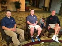 Andy Katz with Marquette head coach Steve Wojciechowski (middle) and Ohio State head coach Thad Matta. (Photo courtesy of Andy Katz)