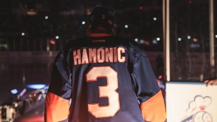 Travis Hamonic wears No. 3 to signify the Holy Trinity. (E:60)