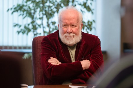 John Walsh attending an Editorial Board meeting in December 2014. (Rich Arden/ESPN)