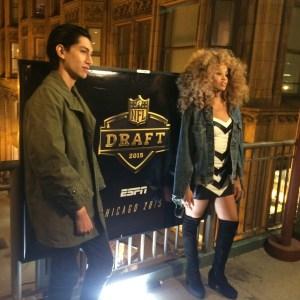 LION BABE's Lucas Goodman and Jillian Hervey. (ESPN/Lucas Nickerson) (ESPN/Lucas Nickerson)