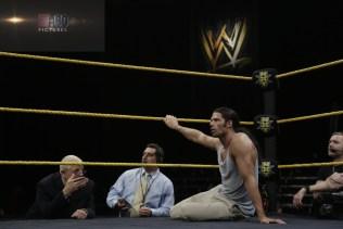 WWE wrestler Adam Rose's NXT debut in Orlando, Florida. (Photo courtesy E:60)