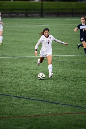 Erika Garcia playing against Yale in October. (Photo courtesy Erika Garcia)