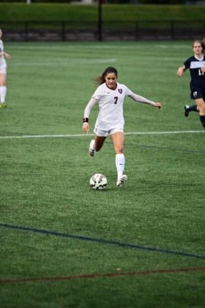 Erika Garcia playing against Yale in October. (Photo courtesy Erika Garcia)