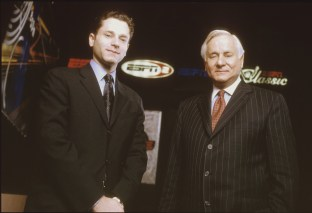2001: Jeremy Schaap and his father Dick Schaap often worked together on ESPN projects. (Steve Fenn)