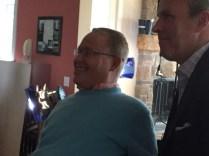 Travis Roy with E:60's Tom Rinaldi. (Max Brodsky/ESPN)