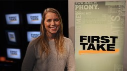 Therese Andrews is heavily involved in planning First Take's remote shows at Super Bowl 50 next month in the Bay Area. (Nicole Peterson/ESPN)