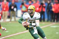 North Dakota State quarterback Carson Wentz is hoping to become one of the rare first-round NFL Draft selections from the NCAA's FCS (I-AA) level. (Scott Clarke/ESPN Images)