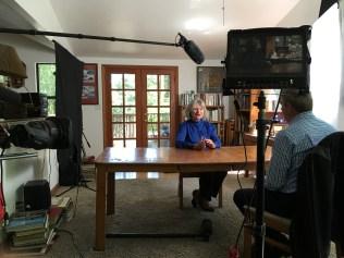 Alice Hoagland, the mother of Mark Bingham, is interviewed by Tom Rinaldi.(Ben Webber/ESPN)